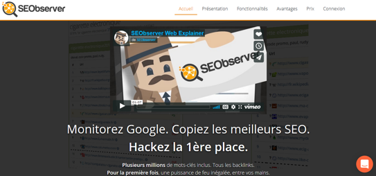 Capture d'écran de SEObserver