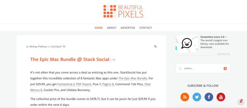 Capture d'écran de Beautiful Pixels