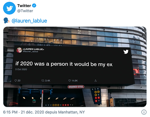 carte de voeux 2021 - twitter