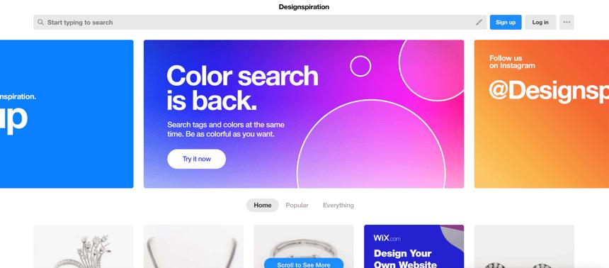 Capture d'écran de Designspiration
