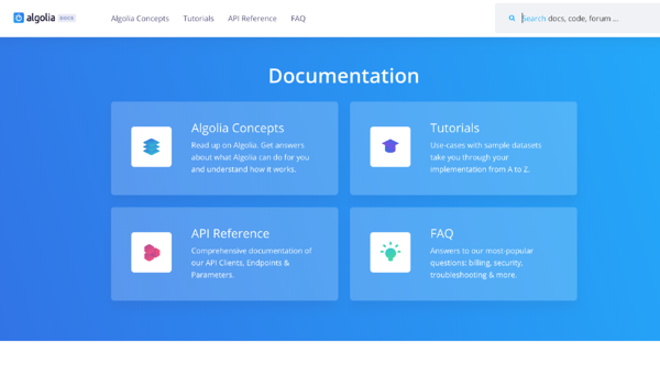 Documentation Algolia