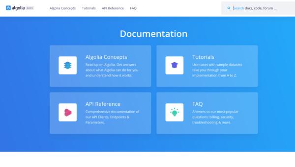 Documentation Algolia