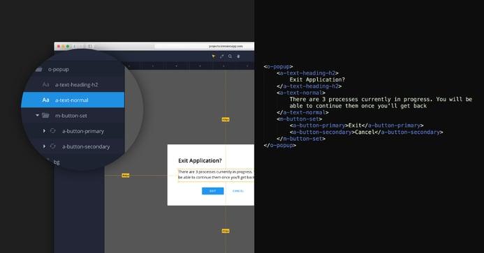 Capture montrant le code du développeur ainsi que la structure de la couche