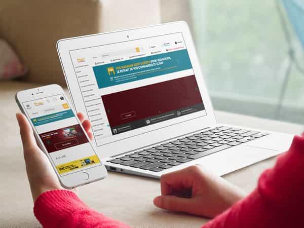 projet ecommerce - responsive - exemple de la Fnac