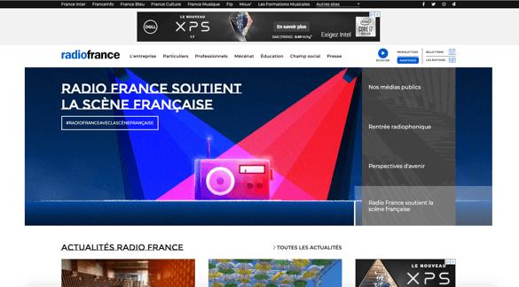 radiofrance - exemple site drupal - desktop