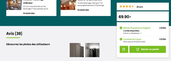 fiche produit - scroll CTA
