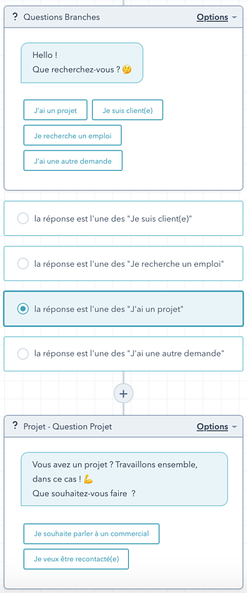 exemple de paramétrage dun chatbot