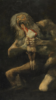 Saturne dévorant un de ses fils, Francisco de Goya (1819-1823)