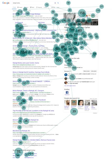 modèle de lecture flipper -  page serp google
