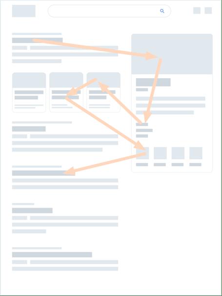 modèle de lecture flipper - google - page SERP
