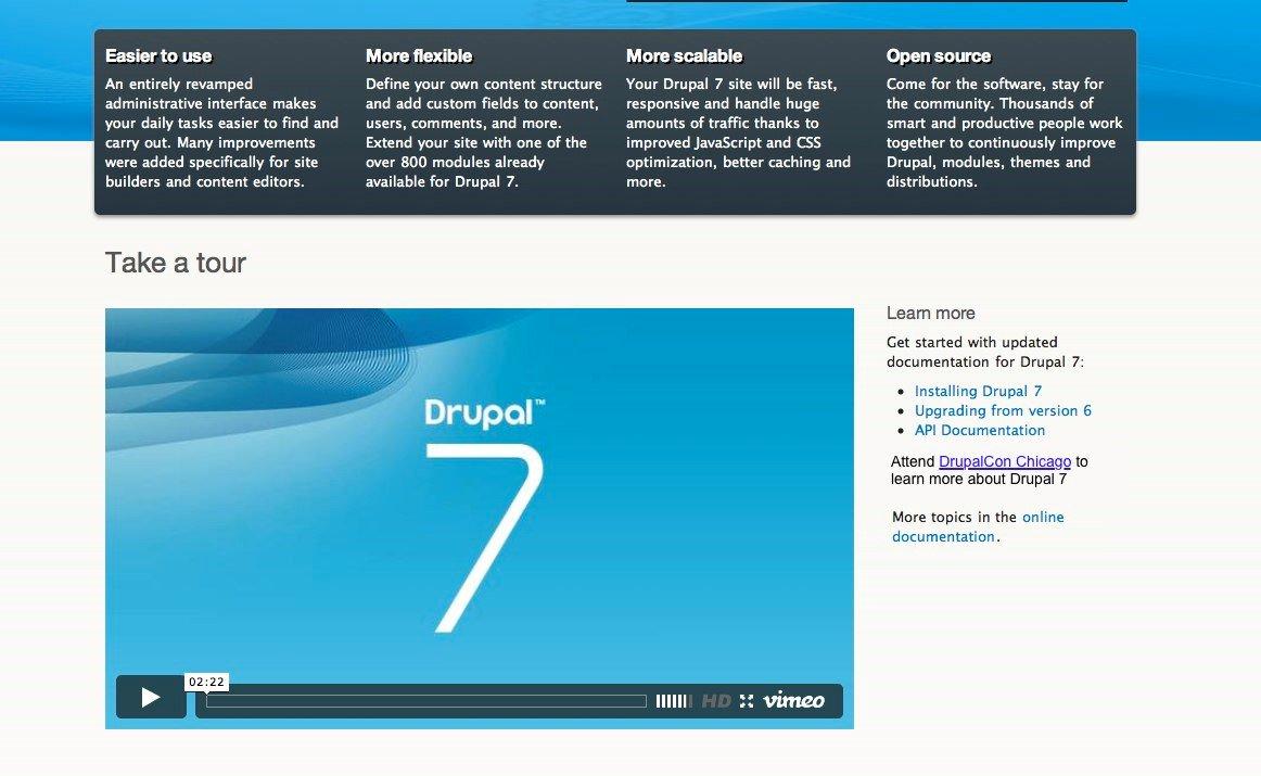 Présentation du Drupal 7