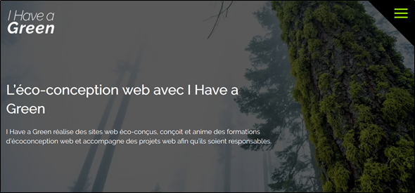 Le site I Have a Green